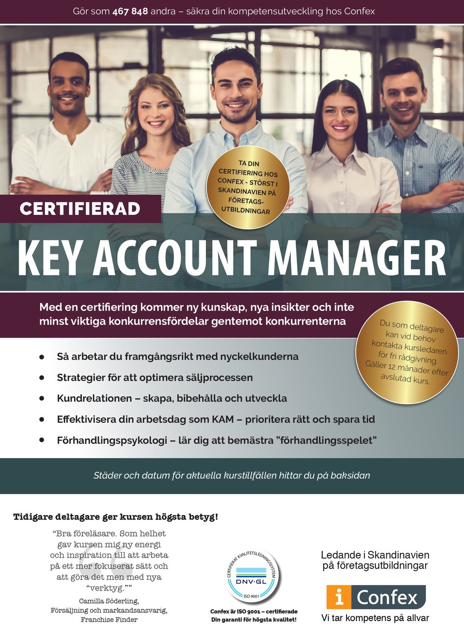 Omslag for Certifierad Key Account Manager