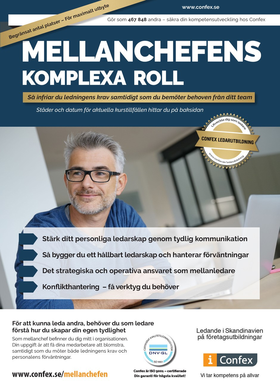 Omslag for Mellanchefens komplexa roll
