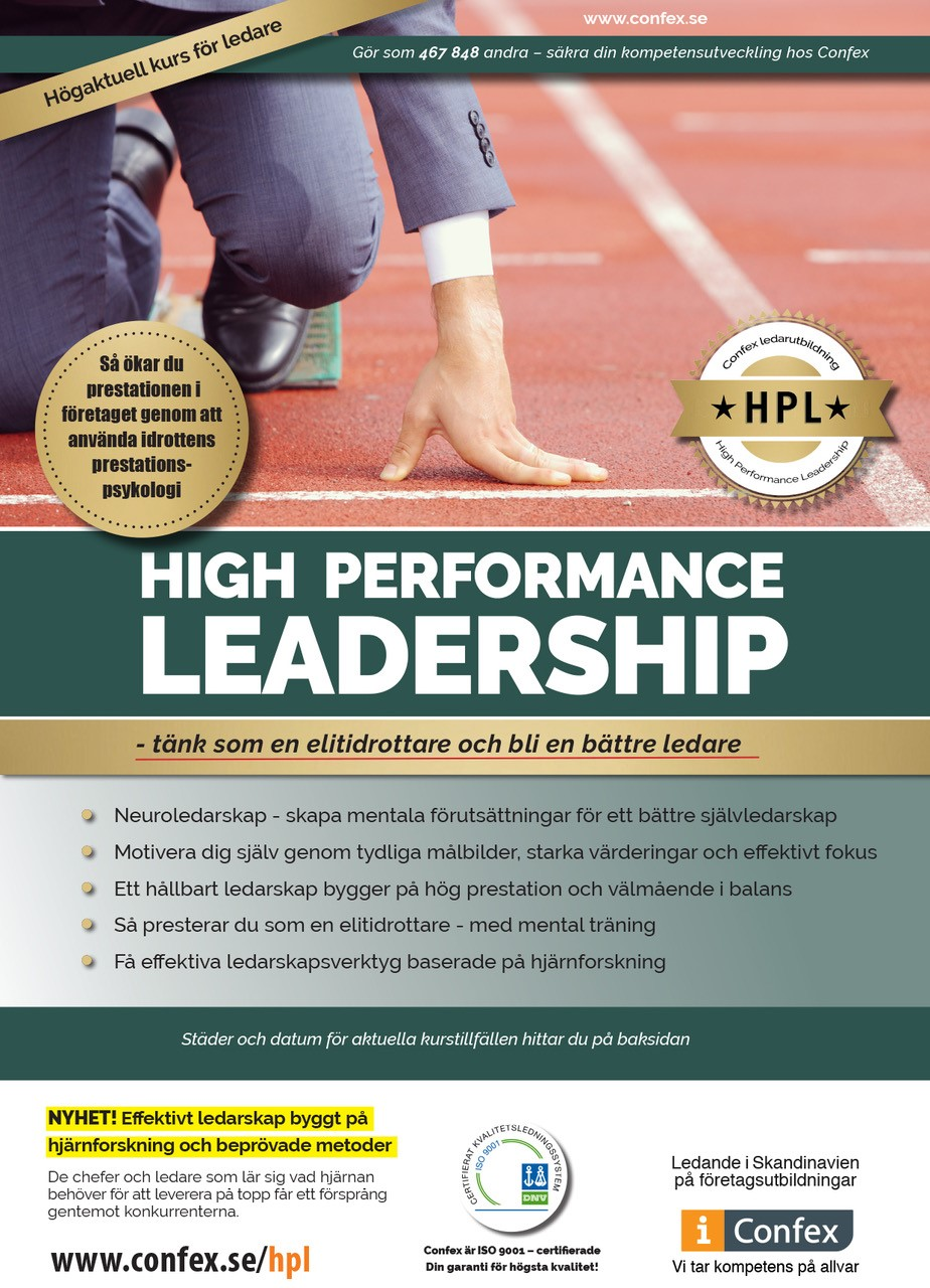 Omslag for High Performance Leadership (HPL)