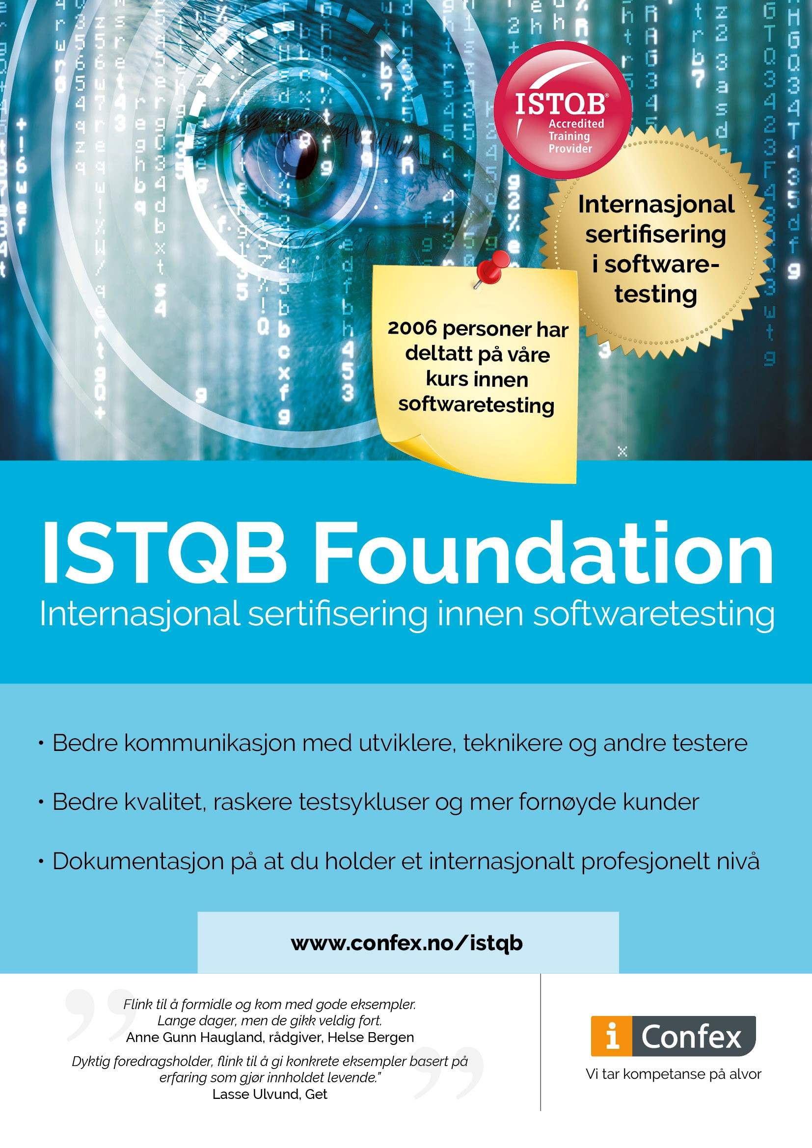 Omslag for ISTQB Foundation - internasjonal sertifisering i softwaretesting