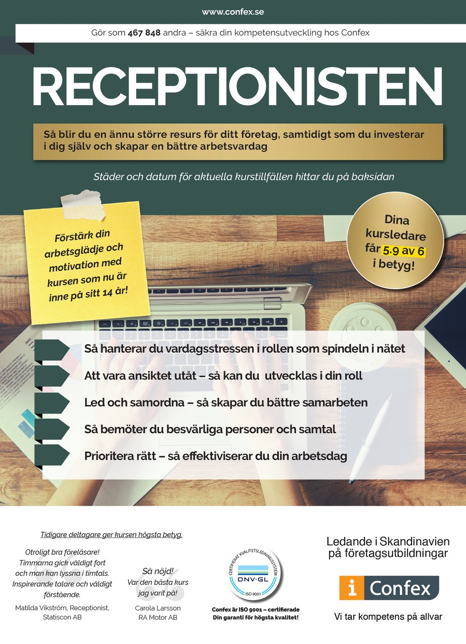 Omslag for Receptionisten