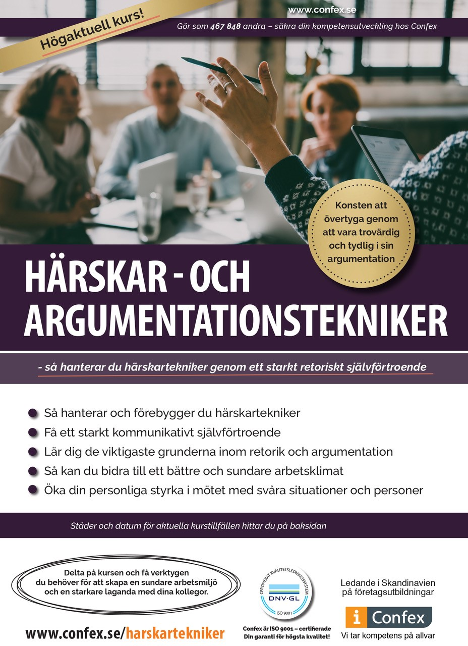 Omslag for Härskar - och argumentationstekniker